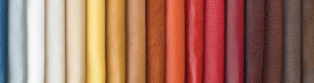 Photo of different types of leather.